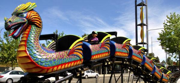 Dragon Wagon Roller Coaster For fairgtounds