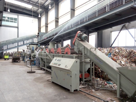 solid waste recycling plant
