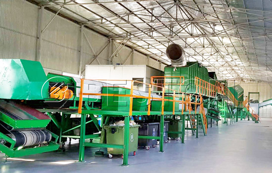 Waste management recycling machine
